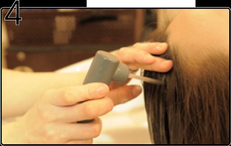 頭皮洗浄の流れ4